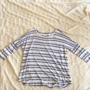 Blue and white striped Splendid shirt